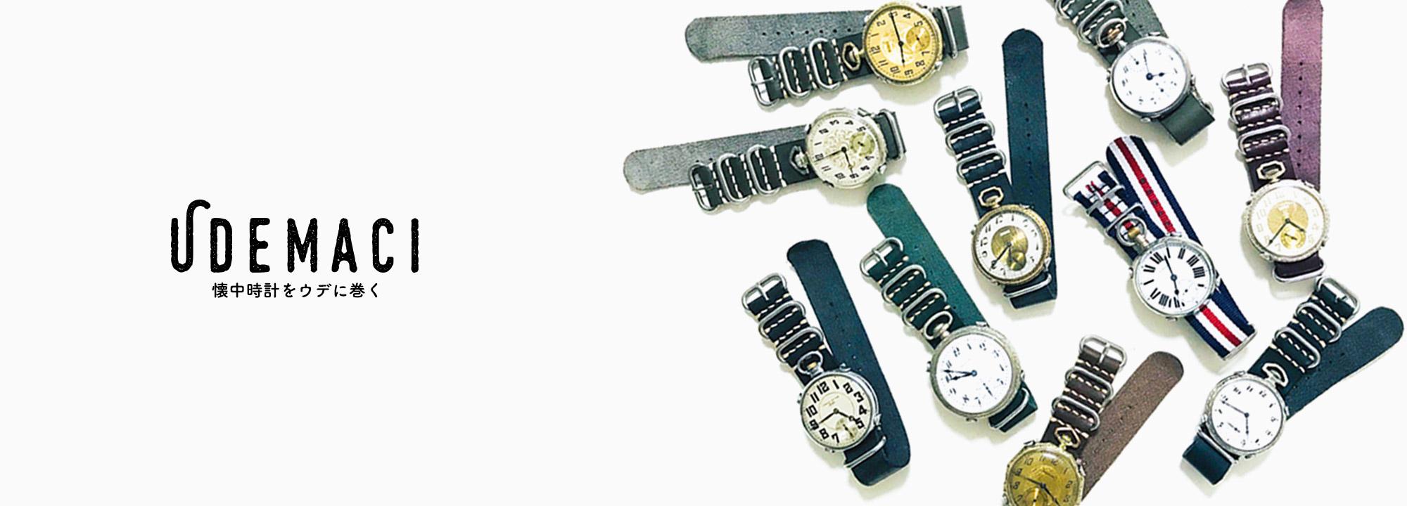 アンティーク懐中時計をウデに巻く