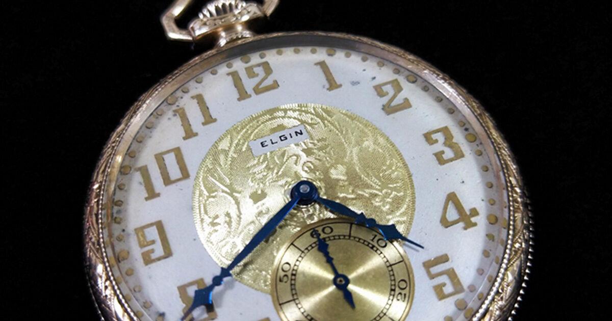 懐中時計UDEMACIELGIN(エルジン)文字盤